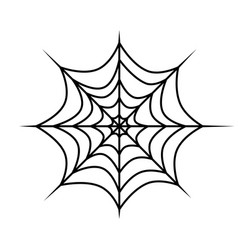 spider web icon outline cobweb for horror vector image