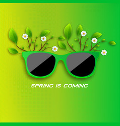 Spring is coming design concept vector