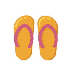 summer sandals flat icon vector image