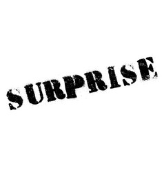surprise rubber stamp vector image