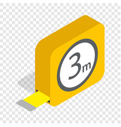 Tape measure roulette isometric icon vector