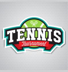 Tennis logo badge design template vector