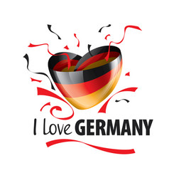 the national flag germany and the vector image