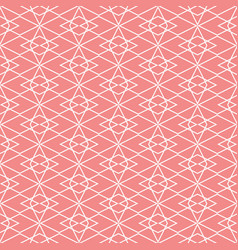 Tile pattern or pink and white wallpaper vector