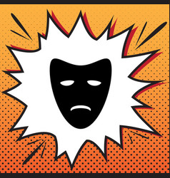 tragedy theatrical masks comics style vector image