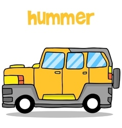 Transportation of hummer cartoon design vector image