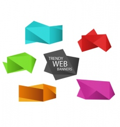 trendy web banners vector image