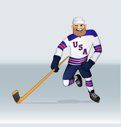 Usa ice hockey team player vector