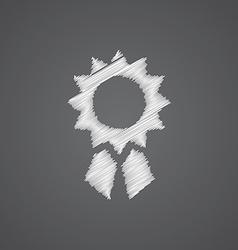 Achievement sketch logo doodle icon vector