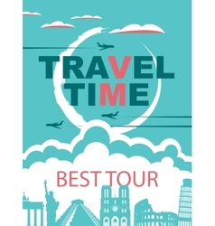 banner for travel agencies vector image