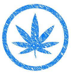 cannabis grunge icon vector image