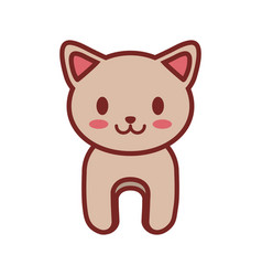 cartoon cat animal image vector image vector image