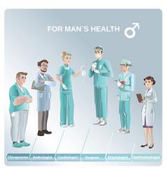 cartoon doctors set vector image vector image