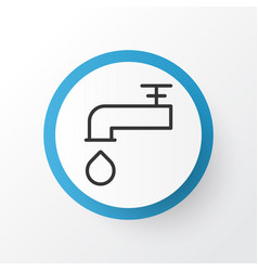 faucet icon symbol premium quality isolated vector image
