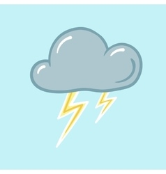 icon of thunderstorm vector image