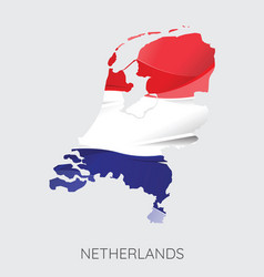 map of netherlands vector image