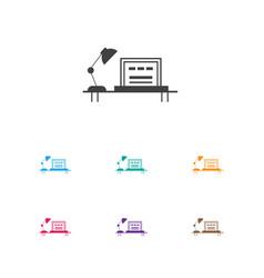 of job symbol on office desk vector image