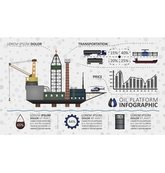 Oil platform infographic vector image