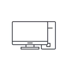 computer desktop thin line icon linear vector image vector image