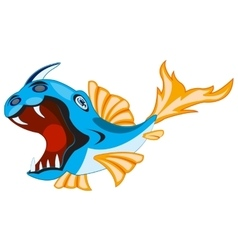Fish crock on white vector image vector image