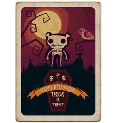 Halloween poster file vector image