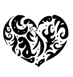 heart for coloring or tattoo vector image vector image