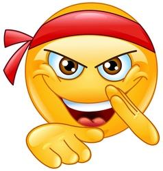 martial art emoticon vector image vector image
