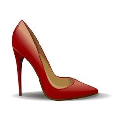 Red women shoe vector image