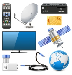 Satellite Television Icons vector image