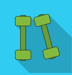 dumbbells icon in flat style isolated on white vector image vector image