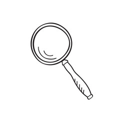 magnifying glass doodle style vector image