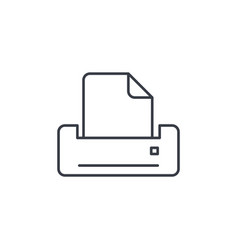 printer thin line icon linear symbol vector image
