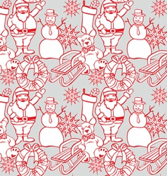 seamless background with christmass items vector image vector image