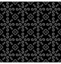 Abstract Line Spiral Background Seamless Pattern vector image vector image