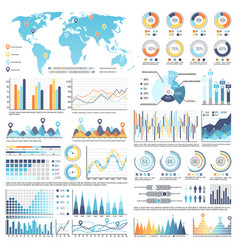 collection of infographics isolated vector image vector image