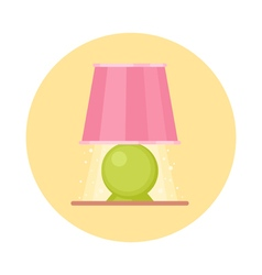 Cute flat nigh light icon Cartoon geometric lamp vector image
