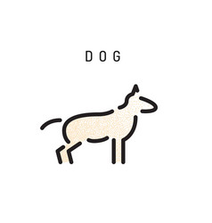 outline dog silhouette vector image vector image