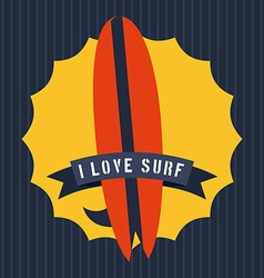 surf design vector image vector image