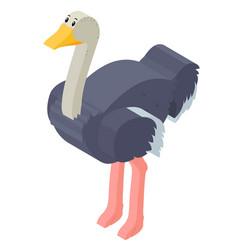 3d design for ostrich bird vector image