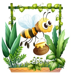 A bee with a honey vector image