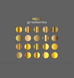 Abstract sphere golden colors gradients isolated vector