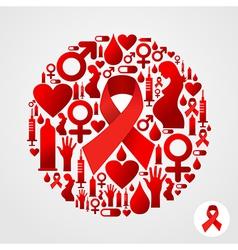 Aids icon set vector