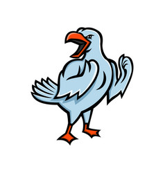 Angry seagull mascot vector