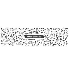 arrow grunge set vector image