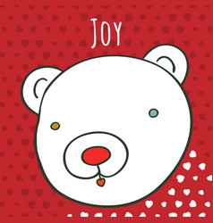 art bear greeting card vector image