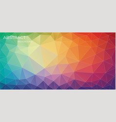 bright horizontal multicolor triangle background vector image