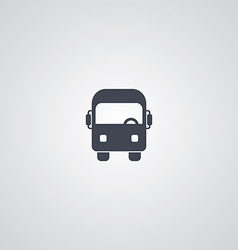 Bus theme logotype vector