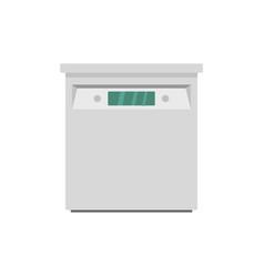 Closed dishwasher icon flat style vector