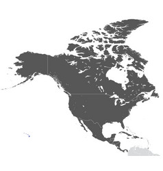 continent north america map vector image