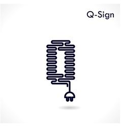 Creative Q letter icon abstract logo design vector image
